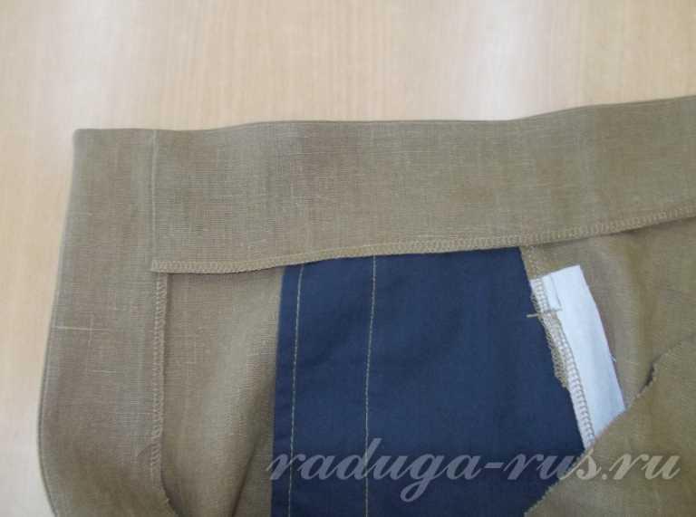 правая половинка брюк