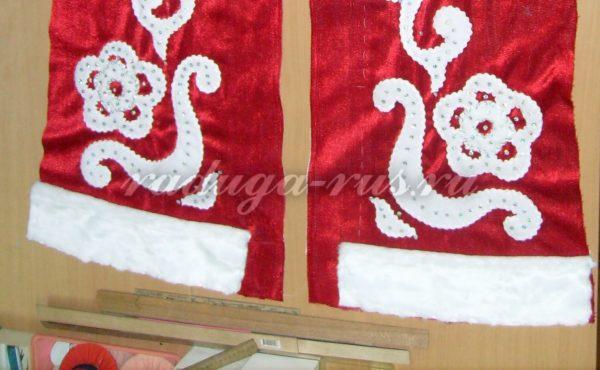обработка меховой опушки по низу изделия