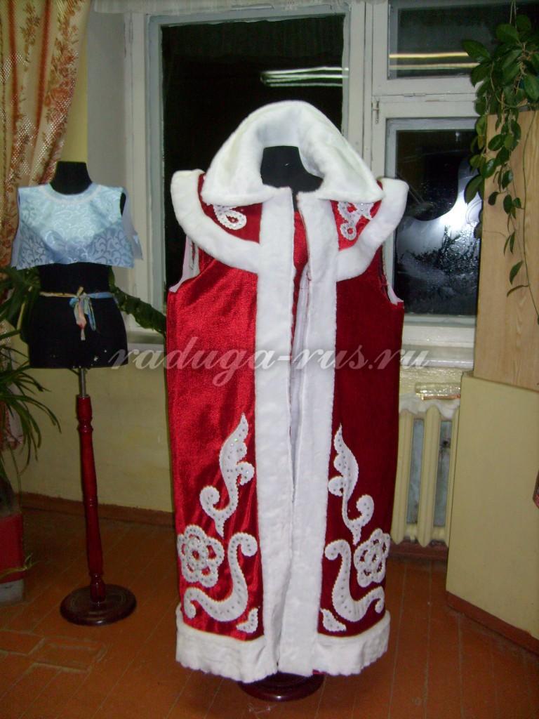 промежуточный этап обработки костюма Деда Мороза