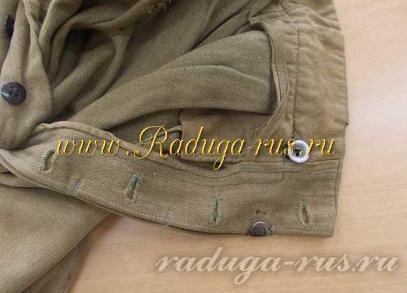 гульфик брюк галифе (вид с изнаночной стороны)