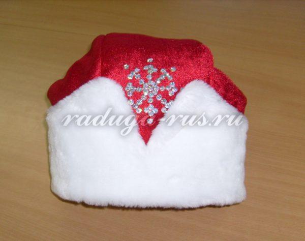 обработка шапки Деда Мороза